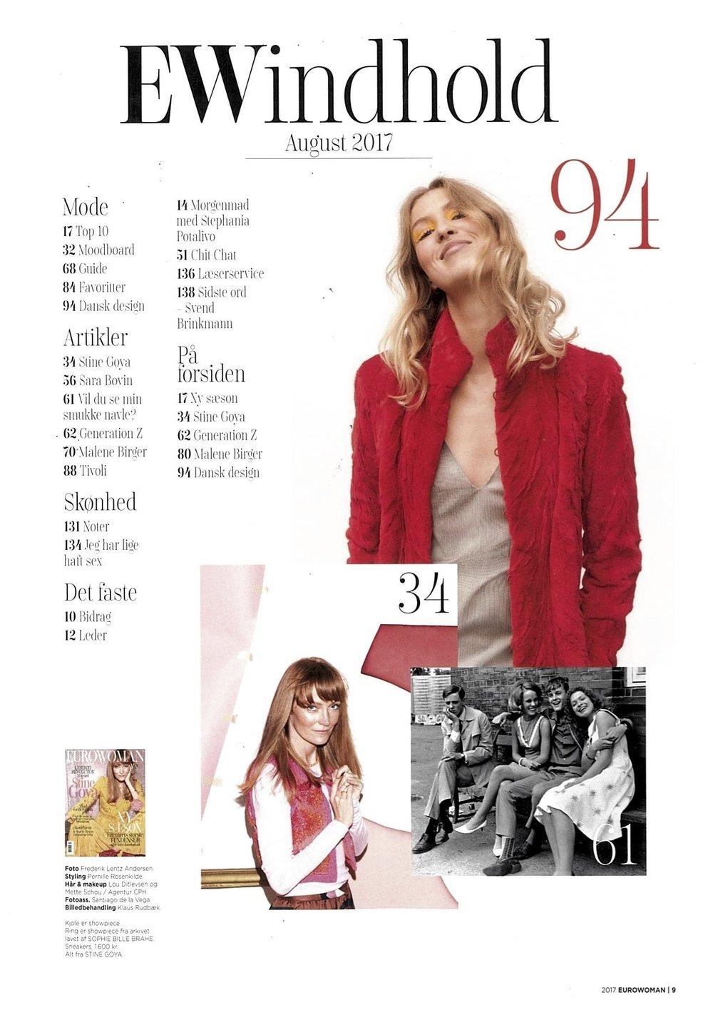 42fa47a140e Stine Goya in Eurowoman — SOMEWHERE Agency