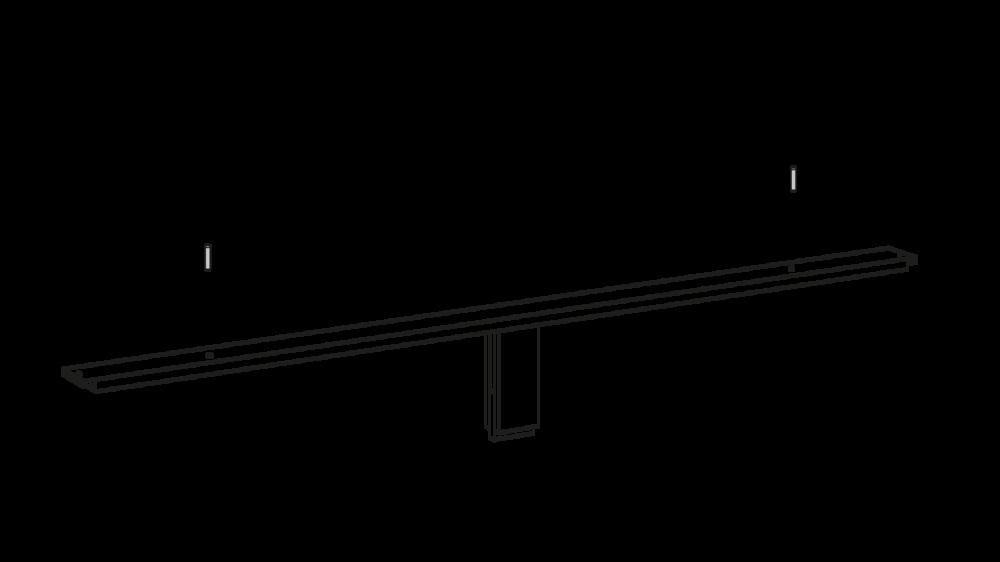 Schritt 04 - Dübel als Abstandhalter für die Lattenroste montieren.