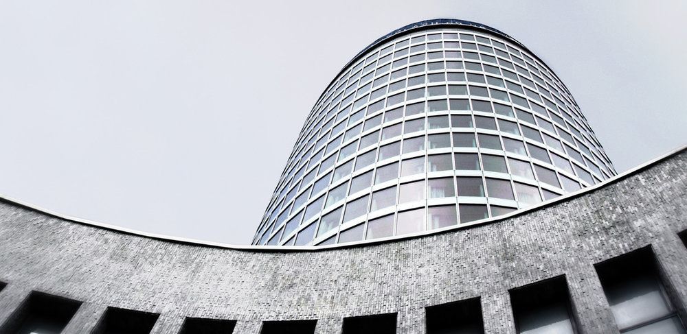 The Rotunda, Birmingham, originally designed by Jim Roberts and later restored by Glenn Howells Architects.