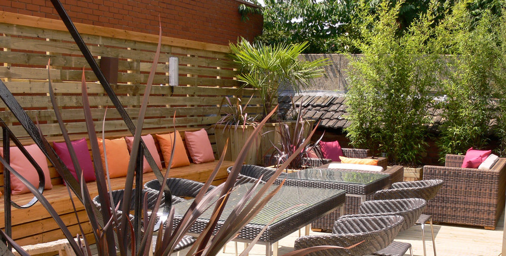 Bar restaurant interiors outdoor
