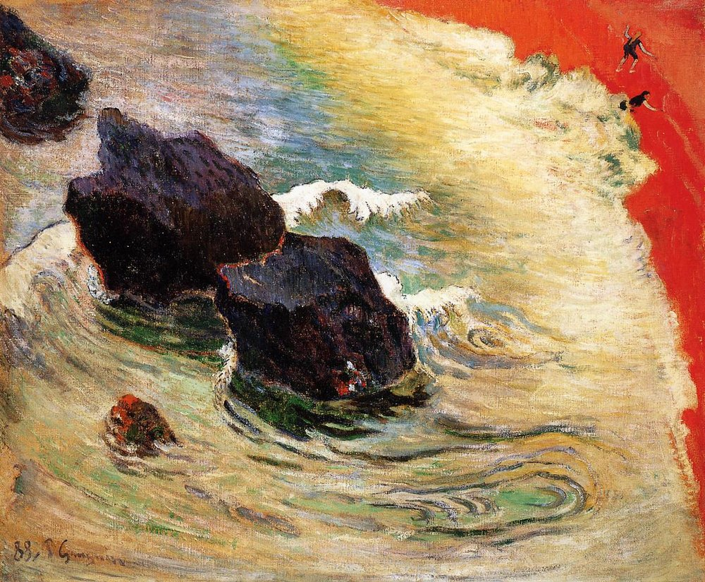 Paul Gauguin,  The Wave , 1888