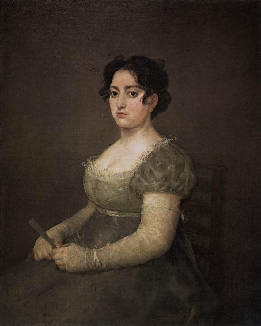 Francisco de Goya y Lucientes, Portrait of a Lady with a Fan, 1806