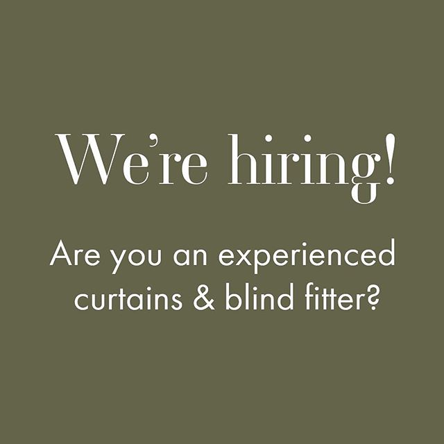 We're looking for an experienced curtains and blind fitter to join the Saal Design team on a freelance basis. Ideally, based in the Warwickshire area. If interested, please contact us: 01926 334556 or info@saaldesign.co.uk . . . #jobsearch #job #jobopportunities #jobopportunity #work #hiring #recruitment #interiordesign #fitter #curtains #blinds #design #designer #warwickshire #leamingtonspa #warwickshirejobs #freelance