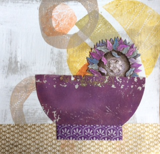 Lyrical Bowls by Sue Lunt.   -   Fabulous prints and stunning jewellery to make the heart sing. Showing throughout July.