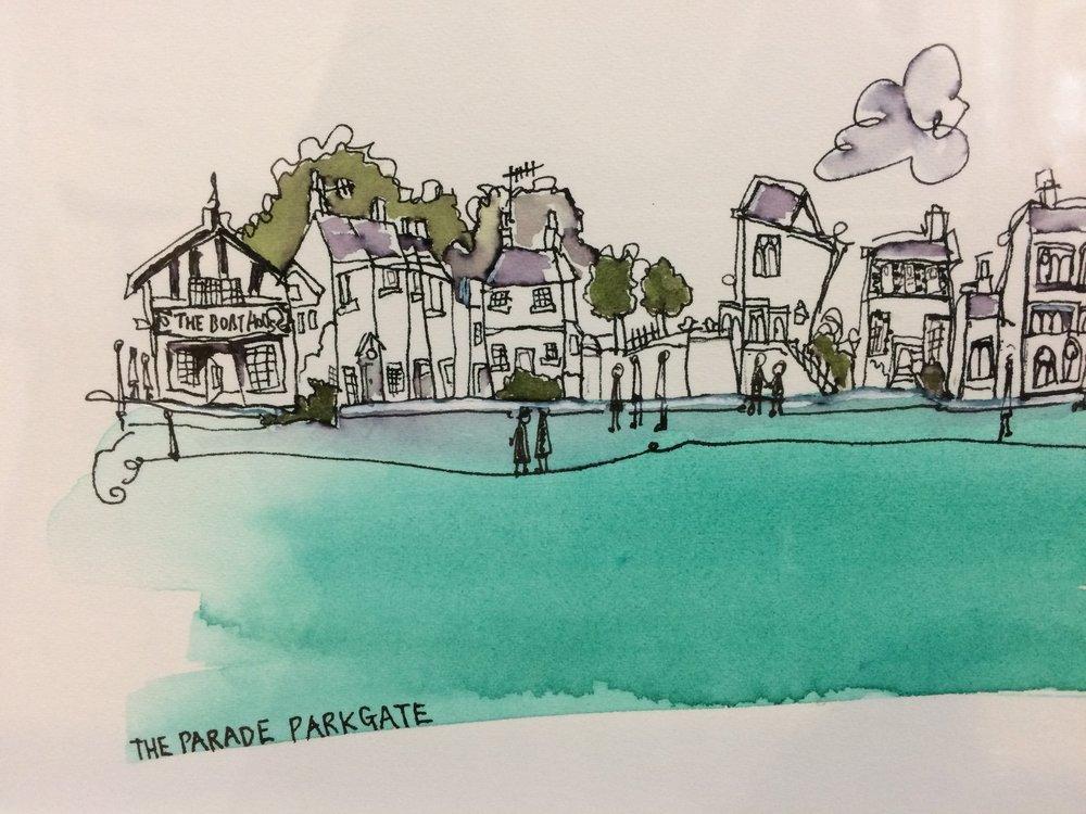 The Parade, Parkgate (detail)