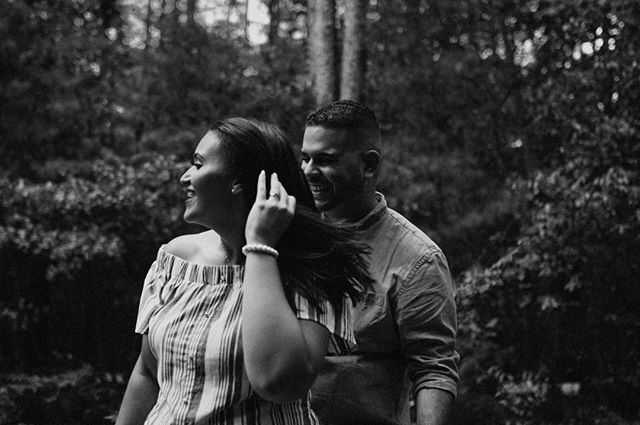 "Had a phone call today with a client who wants to tell a story about human connection and upward mobility in Charlotte. He said ""love makes big things small and little things big"". Couldn't agree more. Learning to focus on the things that actually matter and is long lasting. Also, these two are amazing and killed this shoot with pure excitement and love for one another."