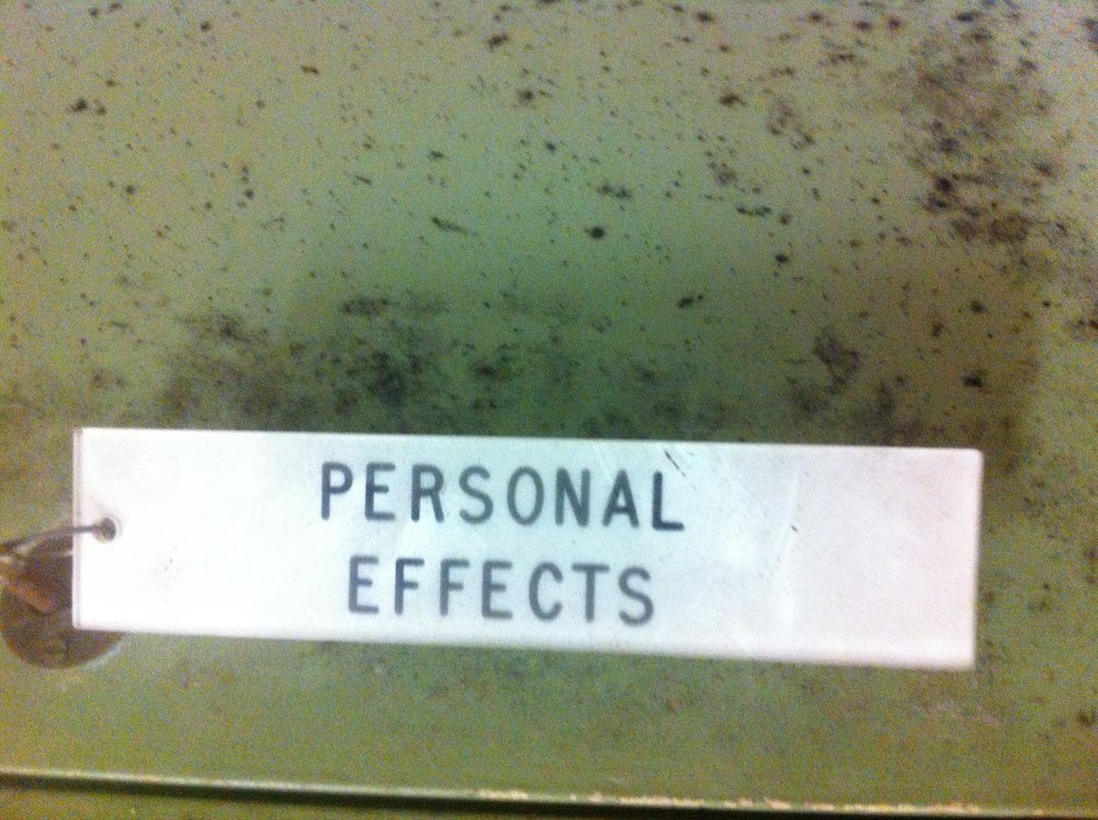Key for a personal effects locker at Leicester Castle