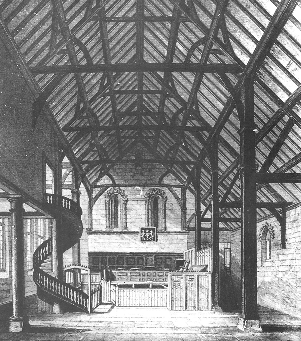 Castle Great Hall before the Victorian era building works