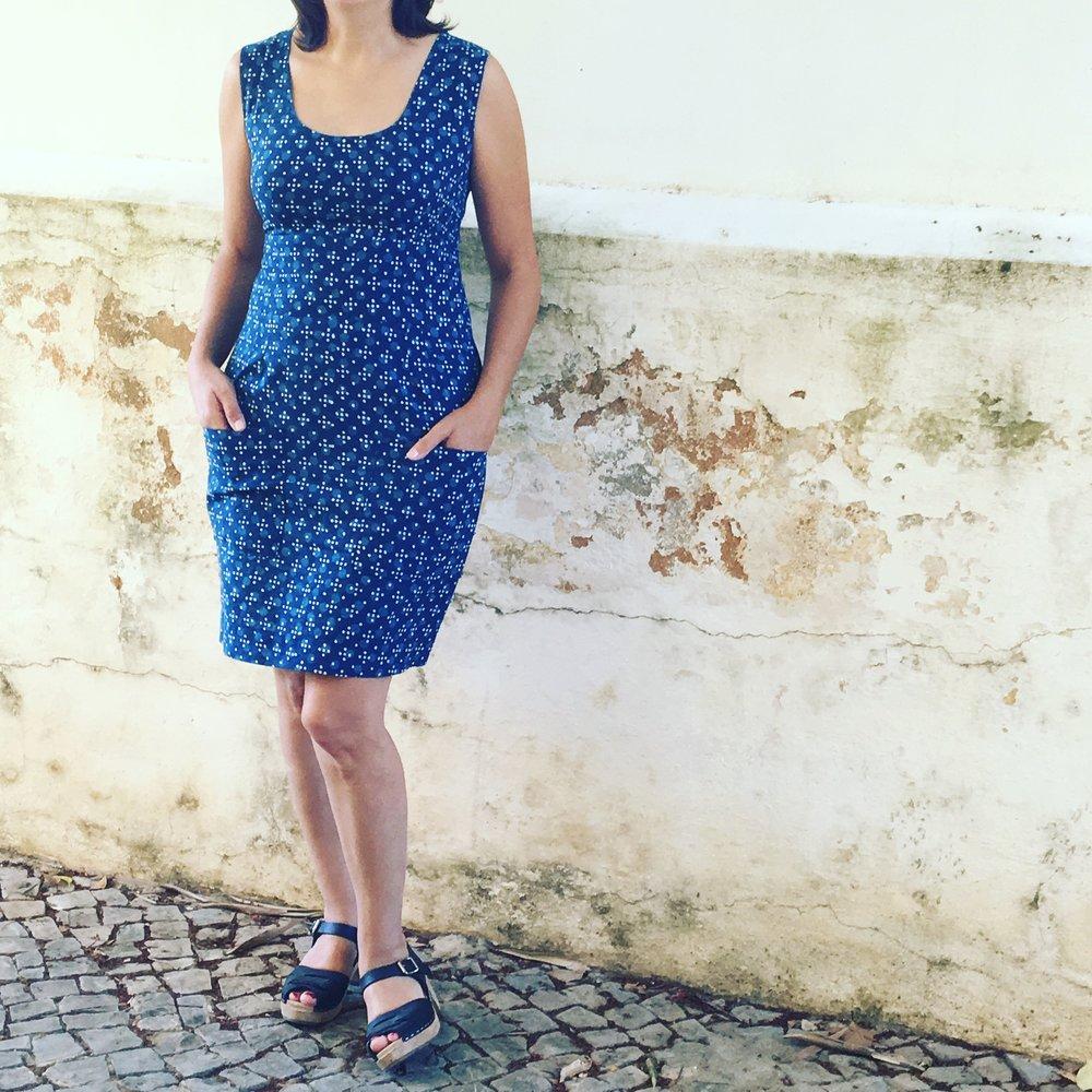Christine Haynes, Sylvie dress Pattern, Merchant and Mills fabric.