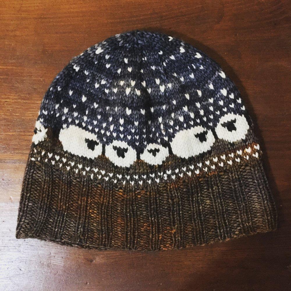 Baa-ble hat in Malabrigo Rios