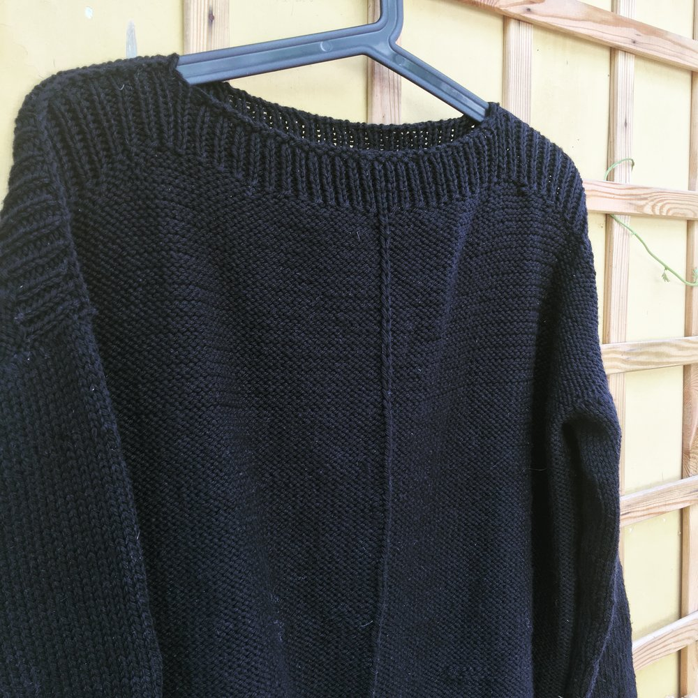 The weekender sweater, design by Andrea Mowry