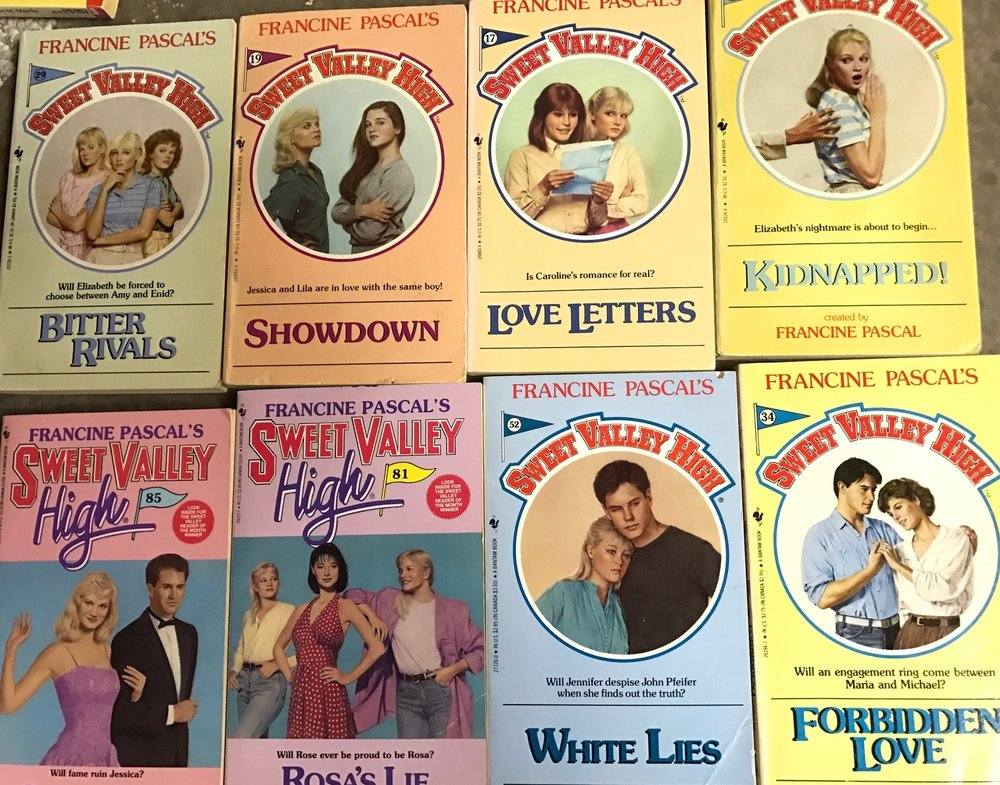 Sweet Valley High books, by Francine Pascal