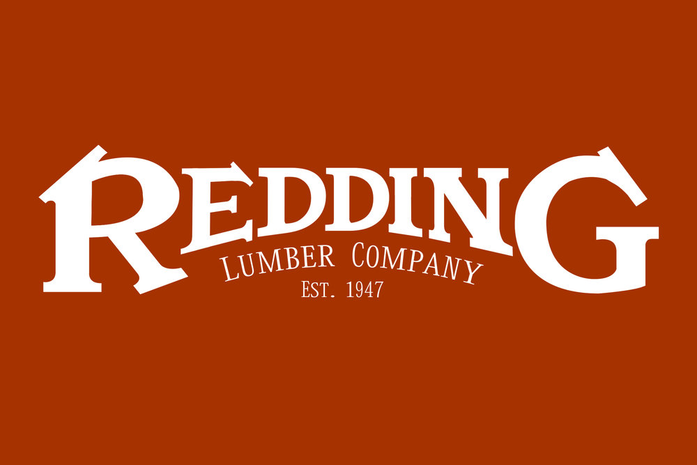 ▲  Redding Lumber Co. wordmark, J. Adsit