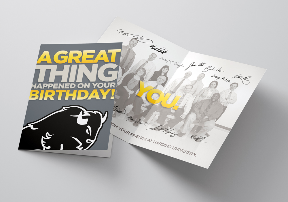 Birthday cards for prospective students