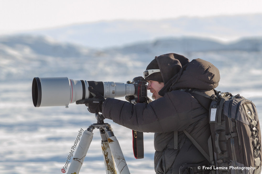Fred sporting his new 600 mm lens