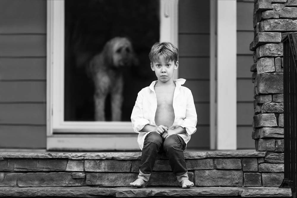 17/365: A boy + his dog.