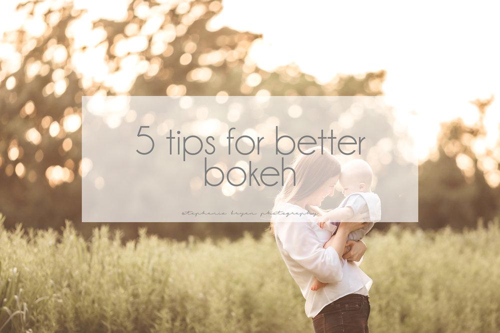 Stephanie Bryan Photography - 5 tips for better bokeh