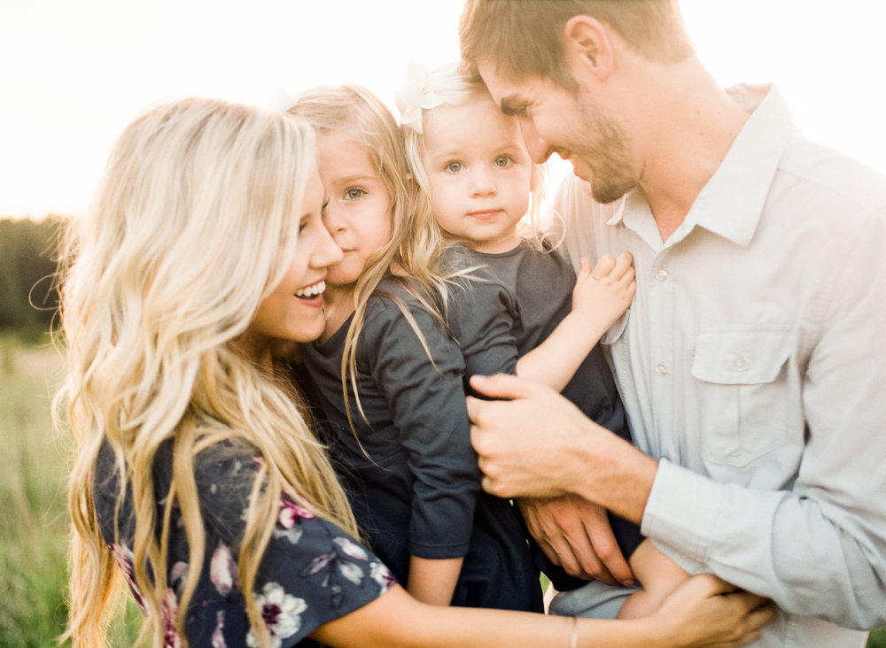 lifestyle-family-photographer-field-sunset-raleigh-holly-springs
