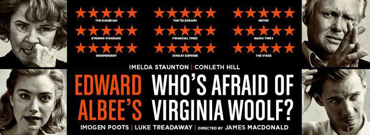 Who's Afraid of Virginia Woolf?  by Edward Albee | Harold Pinter Theatre | Sonia Friedman Productions | Directed by James Macdonald