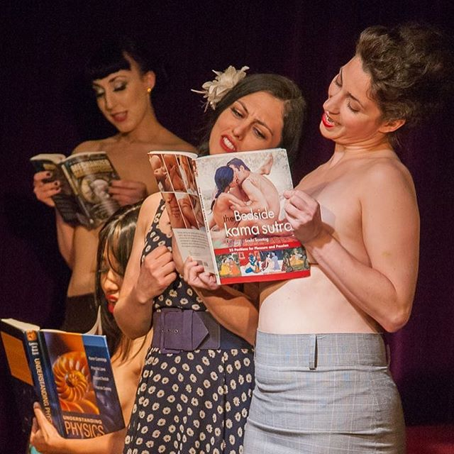 Here are some shots of BRAVE NUDE WORLD, our bibliophile cabaret!  We had too much fun naming this one... care to dirty up your favorite book title in the comments? #tothrillamockingbird #198whore #atreegrowsinmypants #Littlewomensbutts