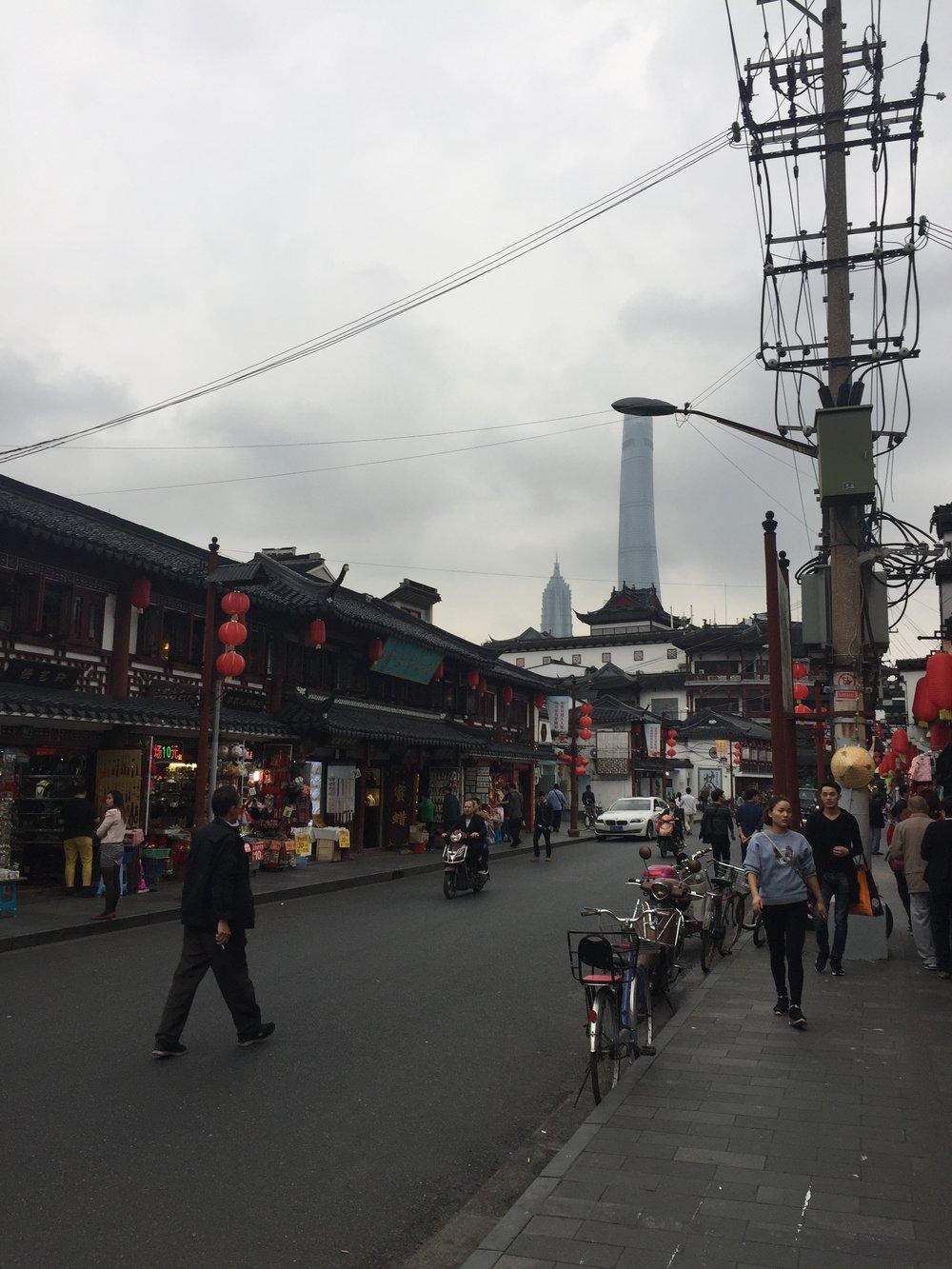 Random road in Shanghai