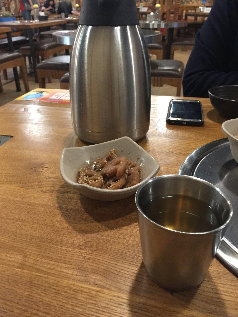 Corn tea was... interesting