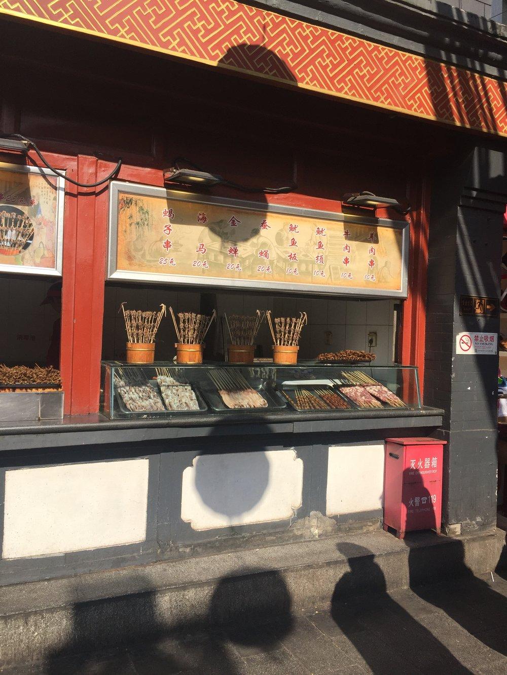 Street food - live scorpians