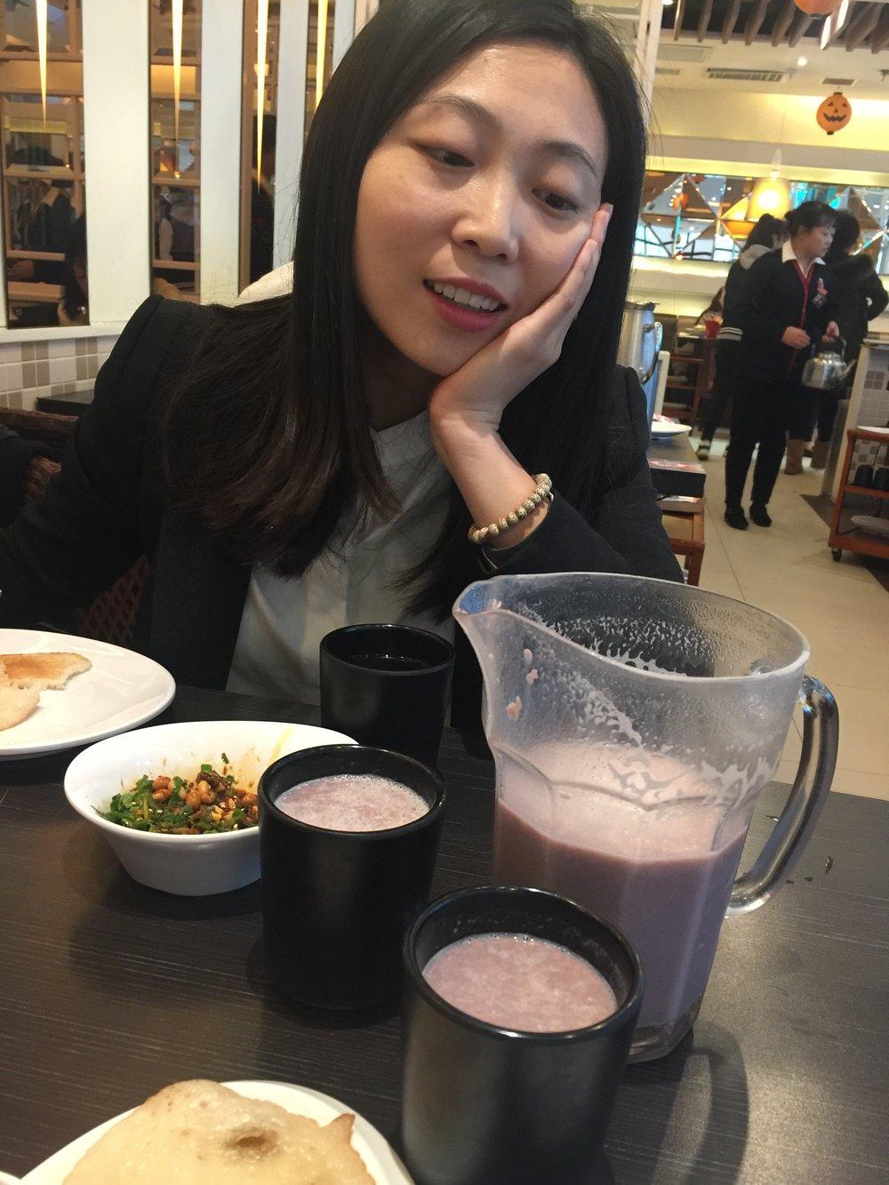 Purple shake looks weird but tastes amazing