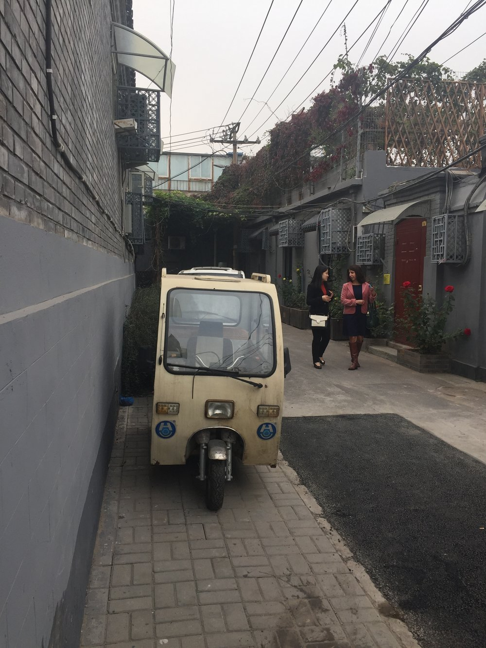 Maxed out scooter in the hutong