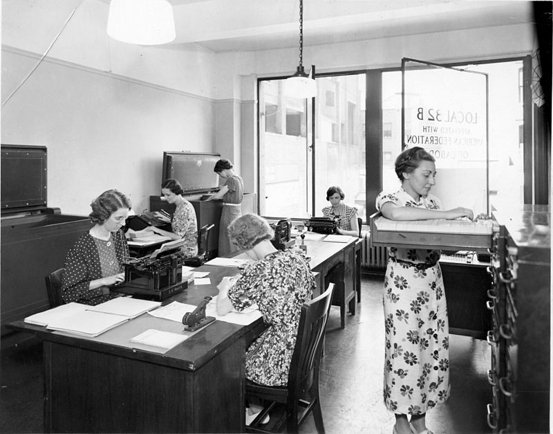 The 32B Secretary Treasurer's office in 1937: New York City, NY USA