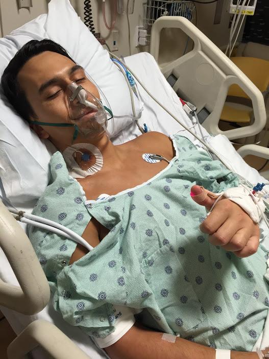 Tim post-surgery
