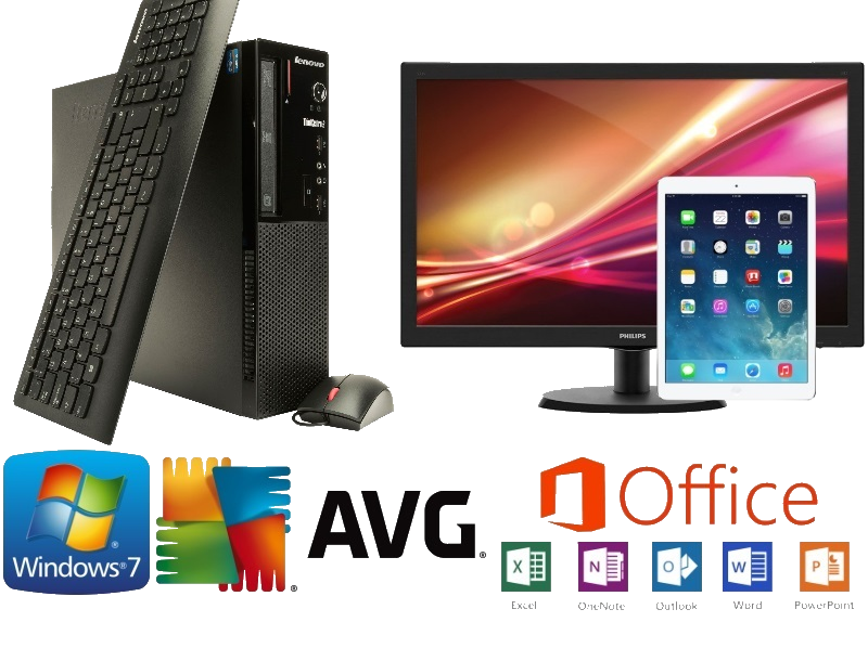 A sample bundle - 1 PC, Monitor and iPad including Microsoft Office and Antivirus all for £36 per month (based on 3 year term)