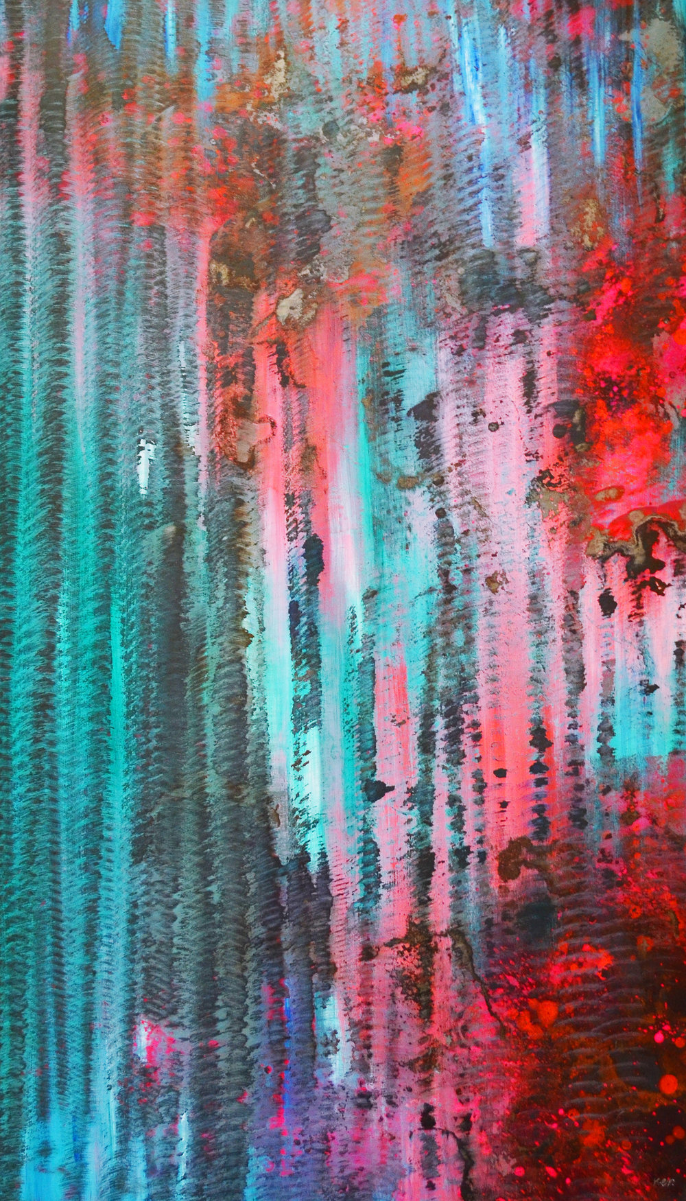 Pink and Turquoise No.1