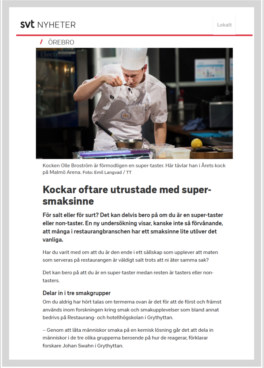 SVT.SE, Juni 13 2018