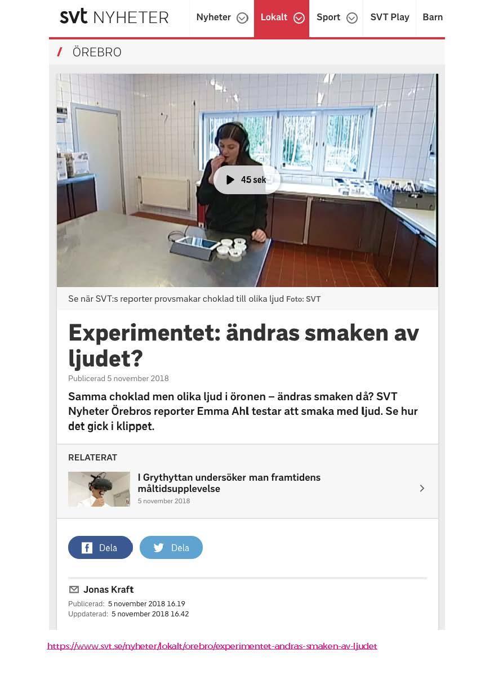 SVT, November 5 2018