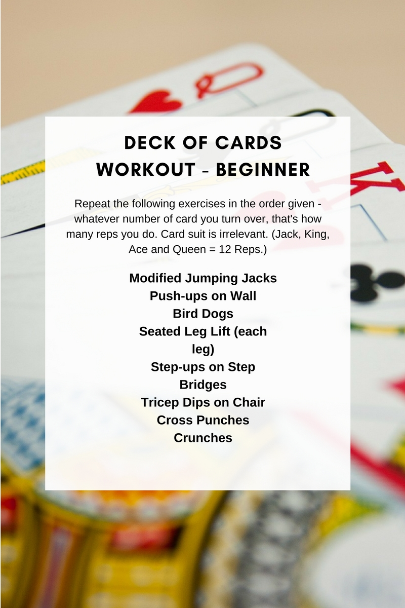 Deck of Cards Workout - Beginner