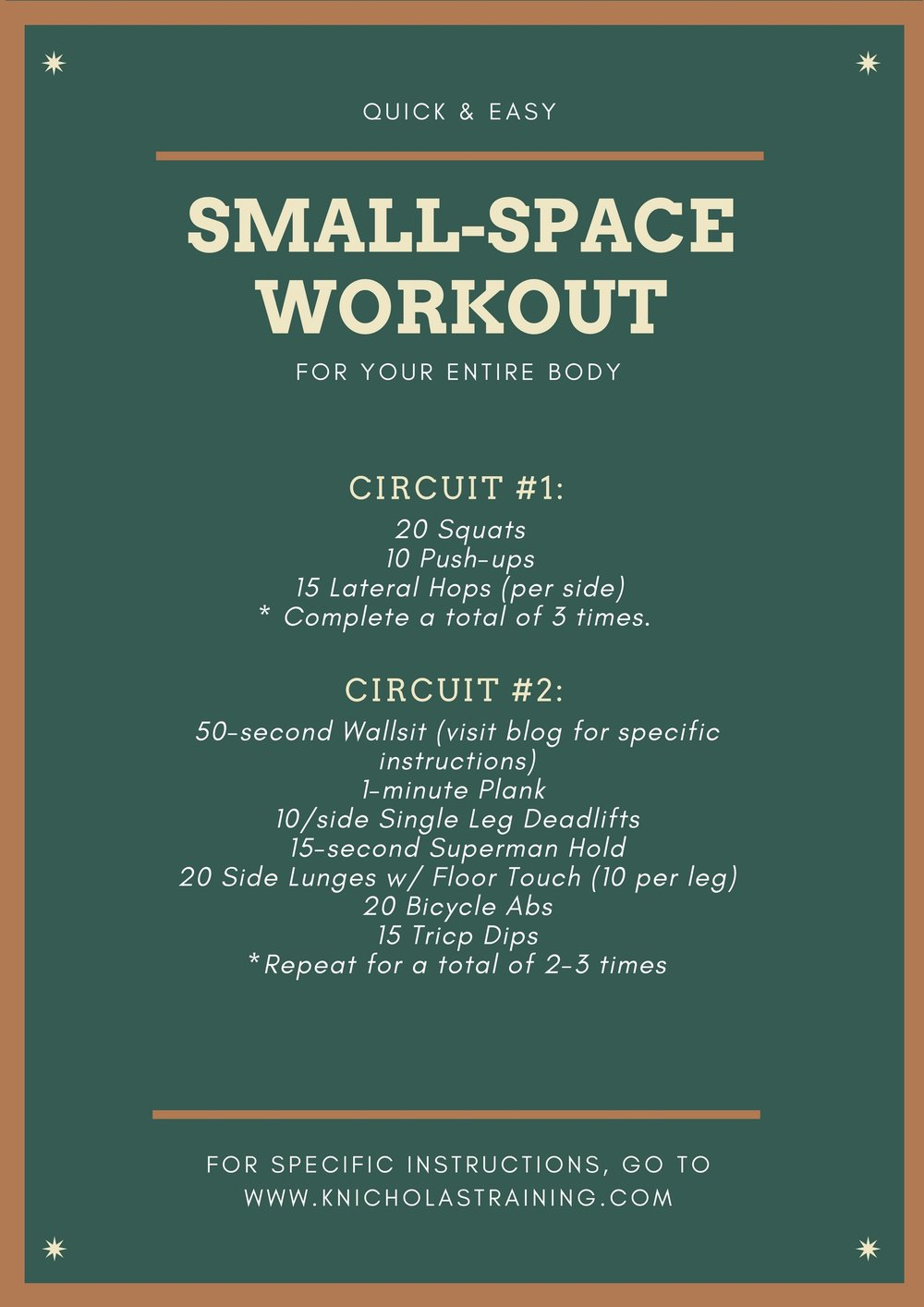 Small-Space Workout
