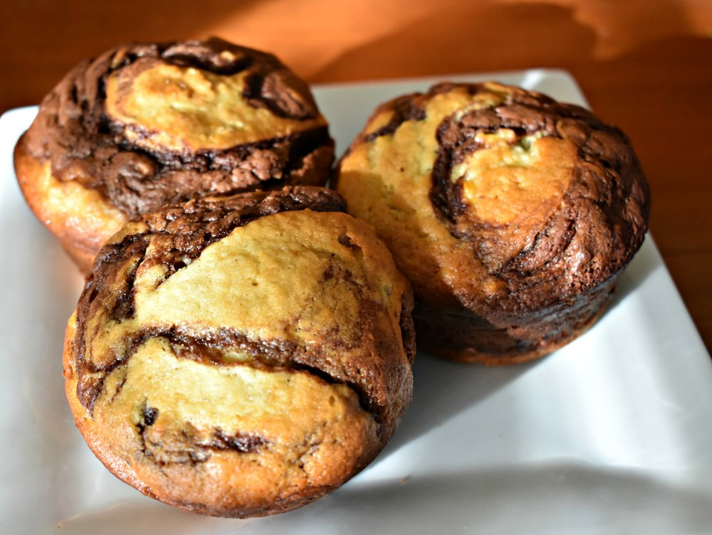 Marbled Chocolate-Banana Bread/Muffins