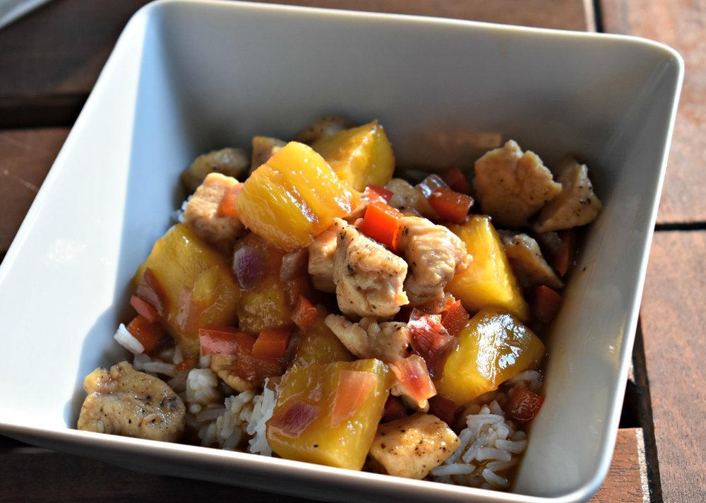 Chicken and Mango Basil Stir Fry