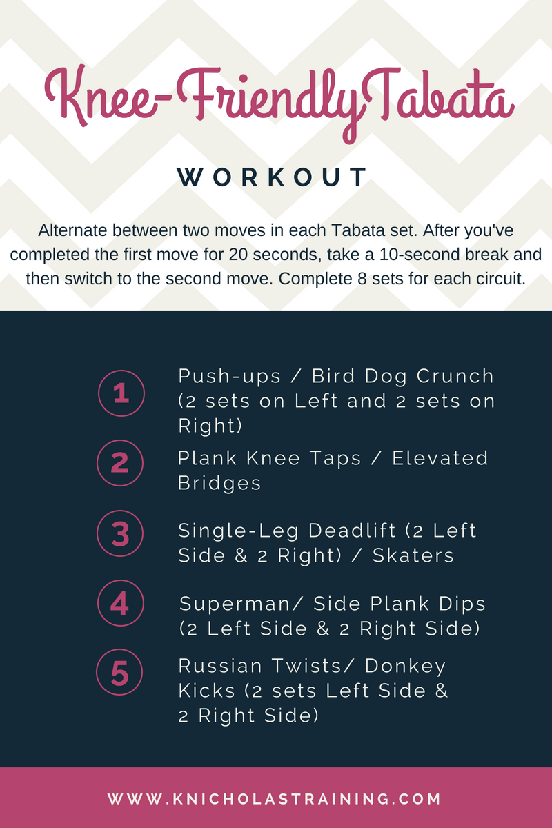 Knee-Friendly Tabata Workout