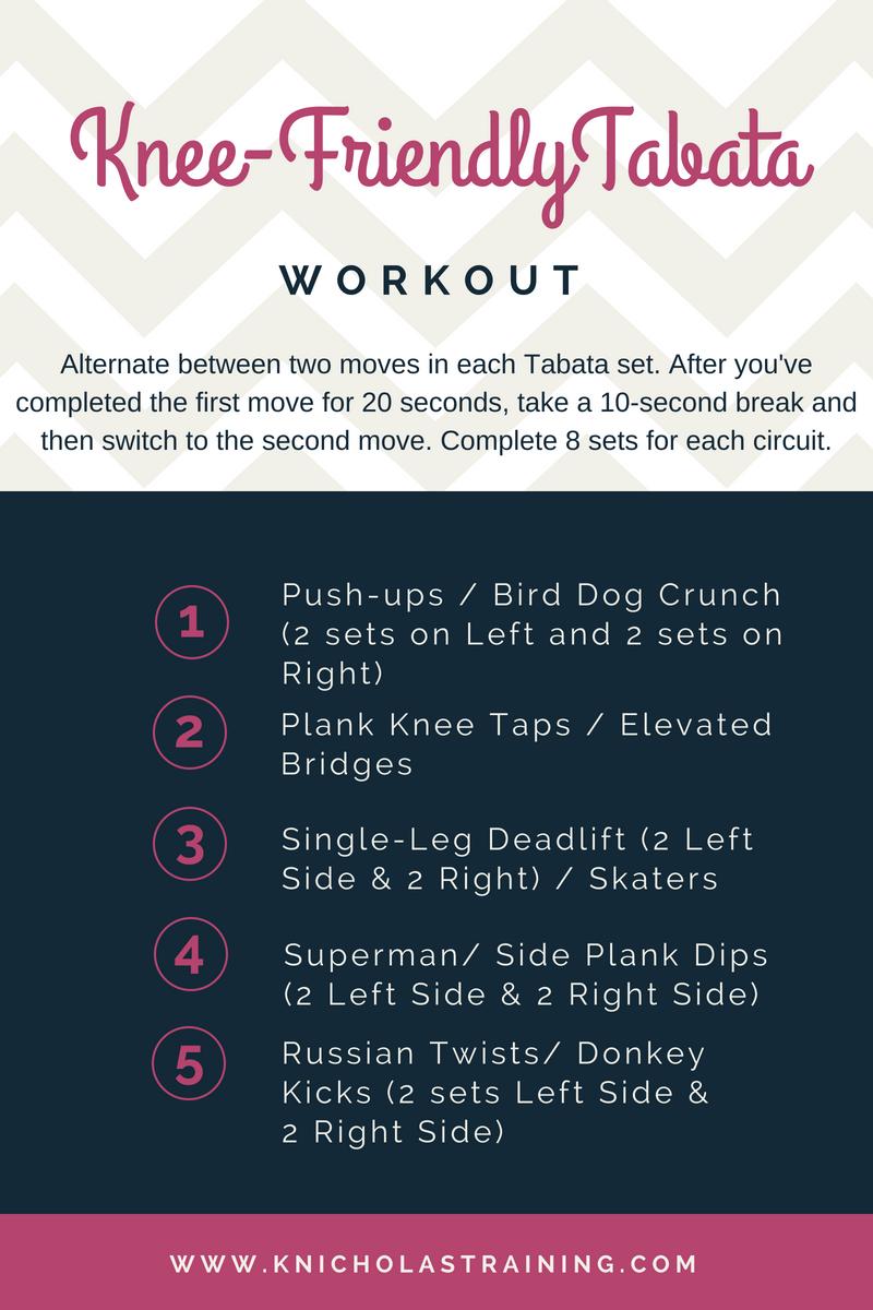 Knee-Friendly Tabata Workout