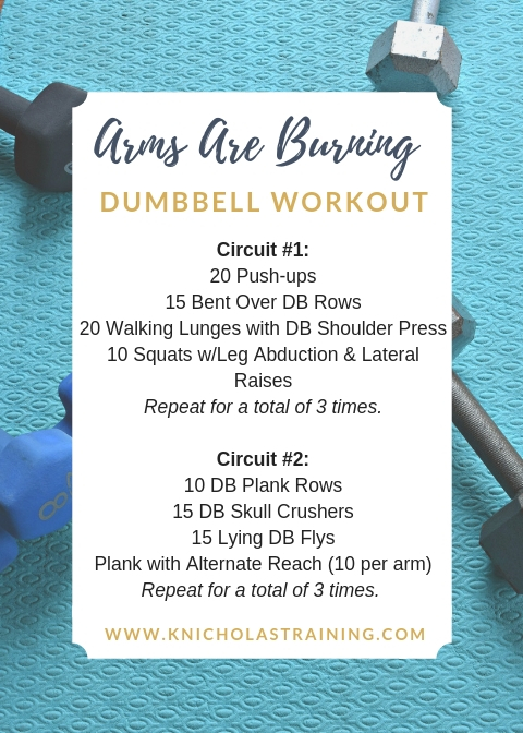 Arms Are Burning DB Workout