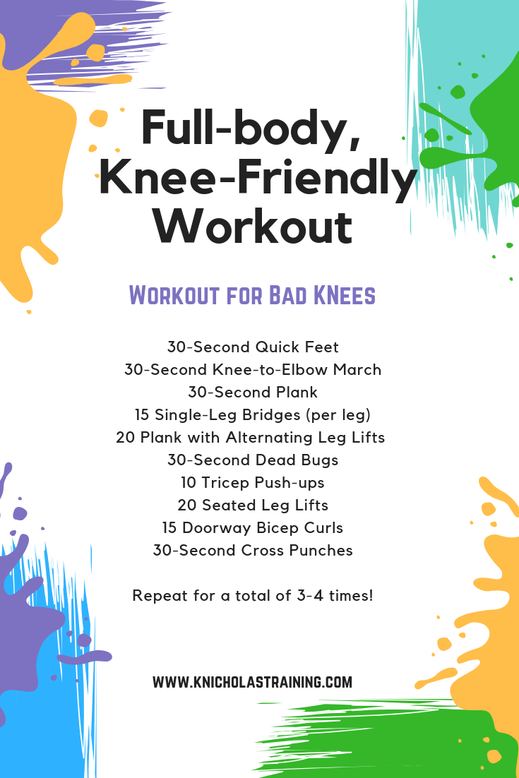 A great workokut for anyone who struggles with sore knees!