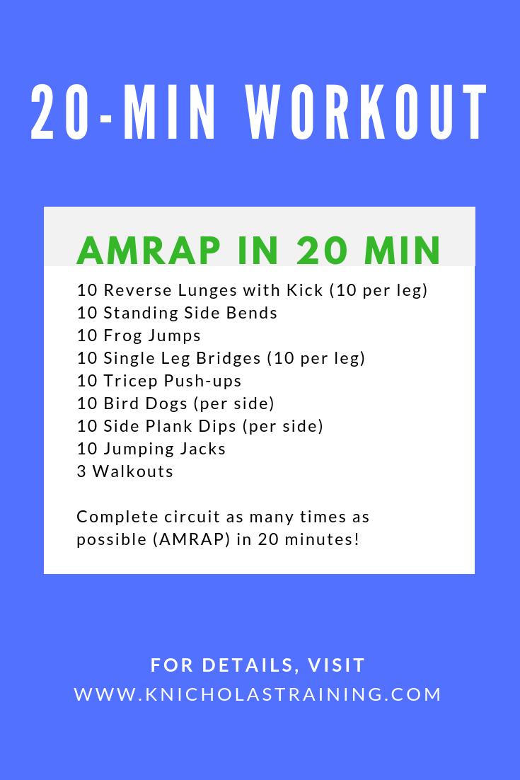 20 Min. Workout