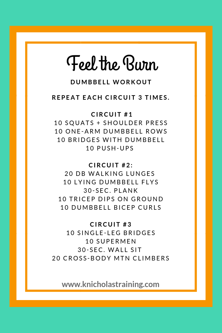 Feel the Burn DB Workout