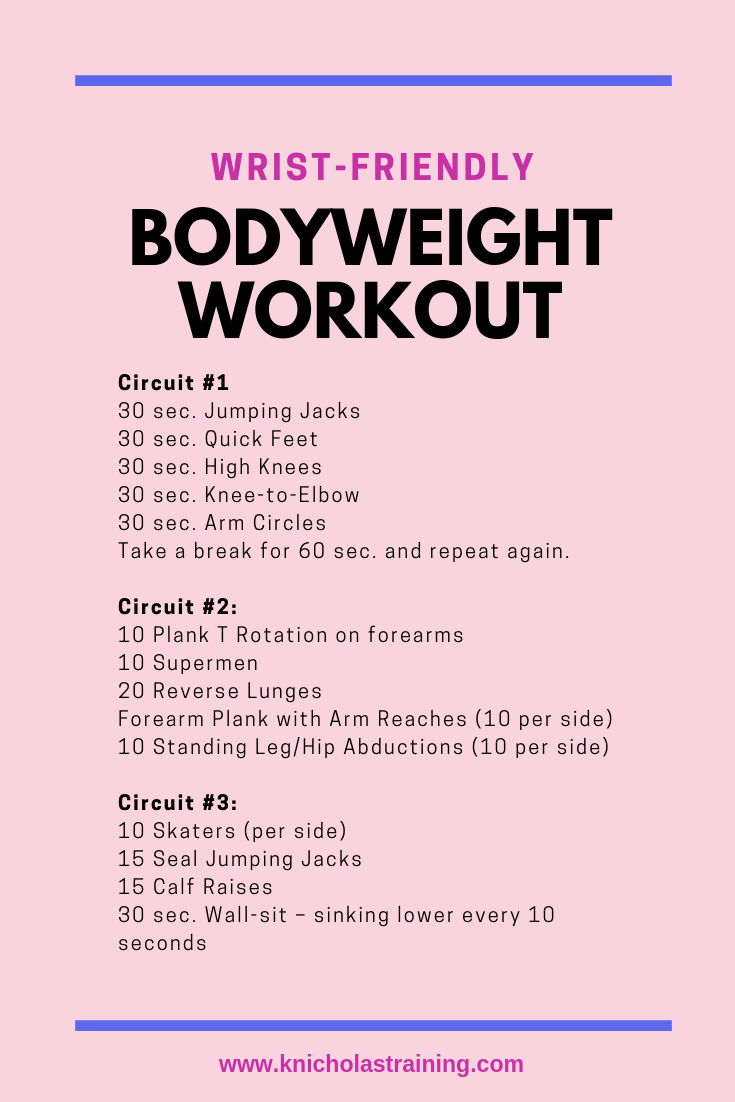 Wrist-Friendly Bodyweight Workout
