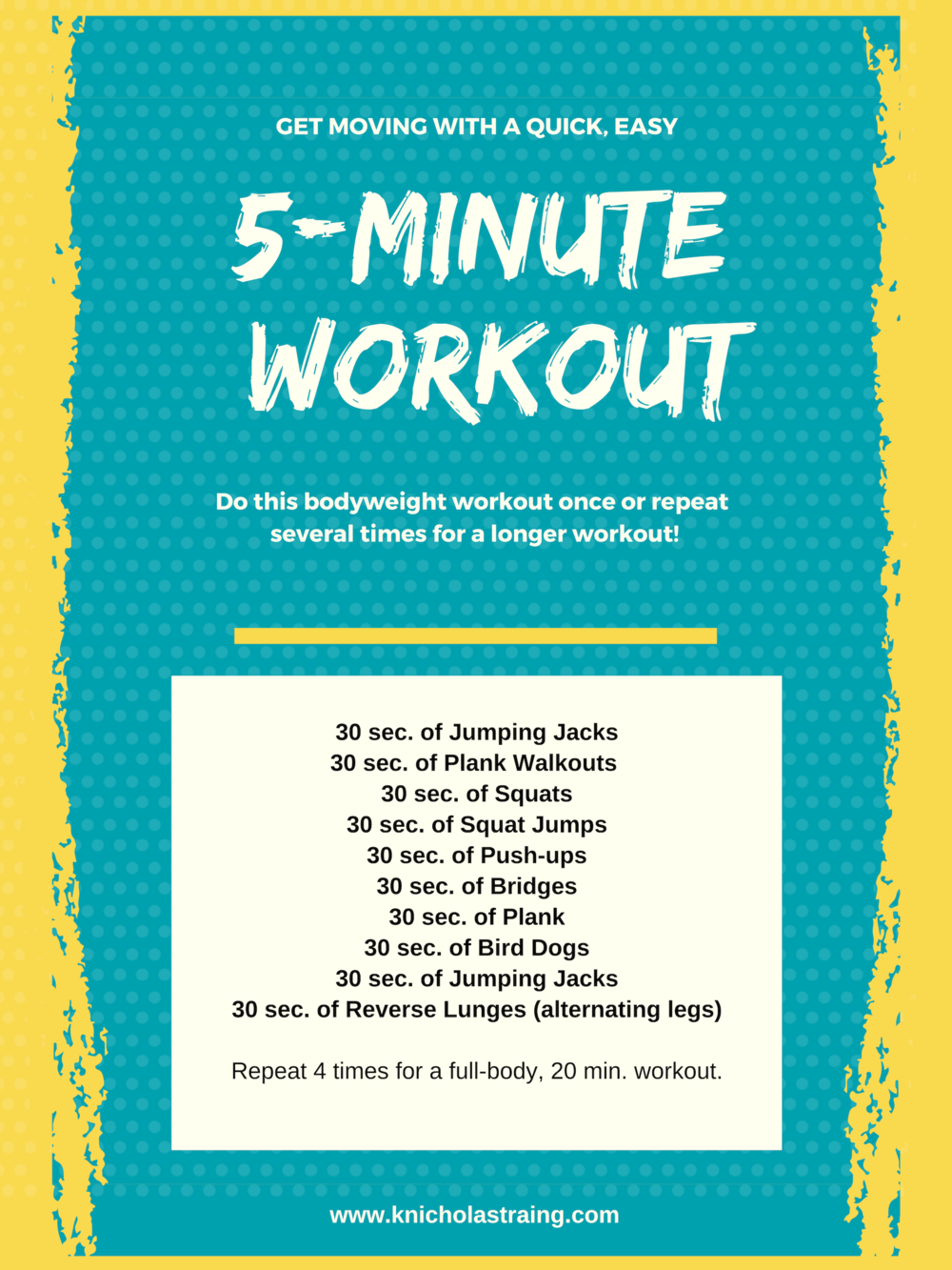 5 Min. Bodyweight Workout