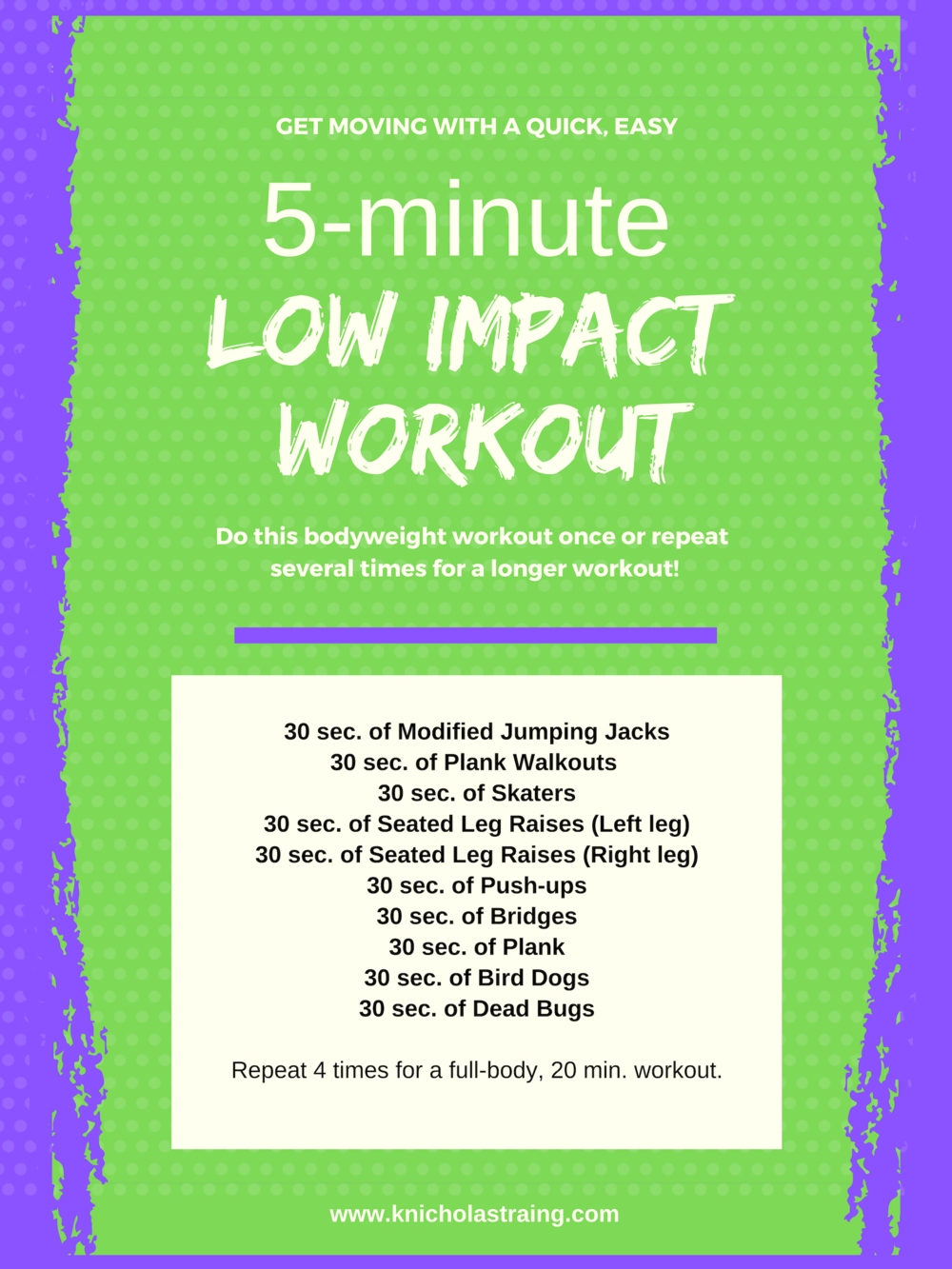 Low Impact 5 Min. Workout