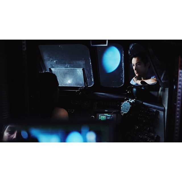 @action_tan Directing #theemissary also floating in space haha. Loved shooting with rear projection. . . . . . #dop #cinematography #bts #onset #photooftheday #behindthescenes #fujixt20 #fujiframez