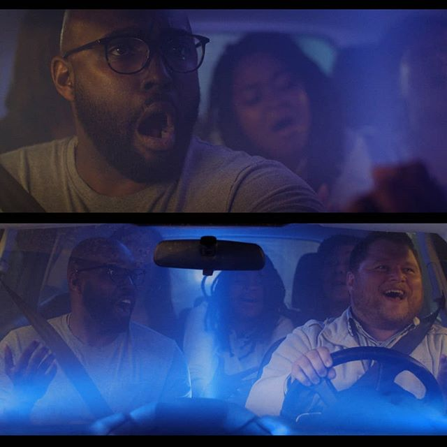 """Had a lot of fun DP'ing this video for 12 stone. Got to try a lot of new things. We used a screen wall instead of rear projection, #astera Titan tubes for our street lights, and a bunch of small astera lights inside the car to make the """"concert"""" happen. . . Directed by @hairylegg Gaffed by @action_tan . . . . . #dop #cinematographer #cinematography #bmpcc4k #davinciresolve #car #driving #tunnel #asteratitan #litemat #kinoflo"""